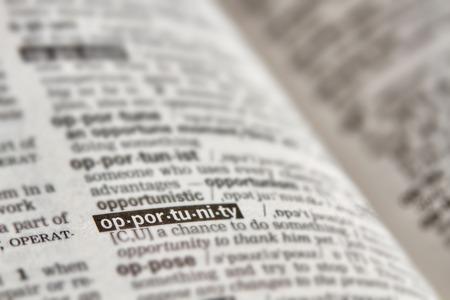 definicion: Oportunidad palabra en el diccionario la definici�n del texto P�gina
