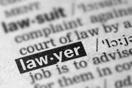 definitions: Lawyer Definition Word Text in Dictionary Page