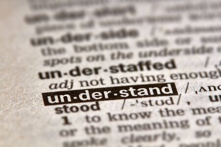 definition: Understand Word Definition Text in Dictionary Page Stock Photo