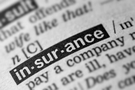 definitions: Insurance Definition Word Text in Dictionary Page Stock Photo