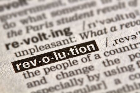 Revolution Word Definition Text in Dictionary Page