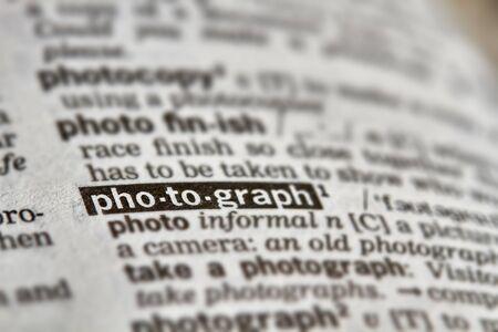 definicion: Photograph Word Definition Text in Dictionary Page Foto de archivo