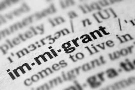 immigrant: Immigrant Definition Word Text in Dictionary Page