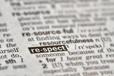 definición: Respeto palabra en el diccionario la definición del texto Página