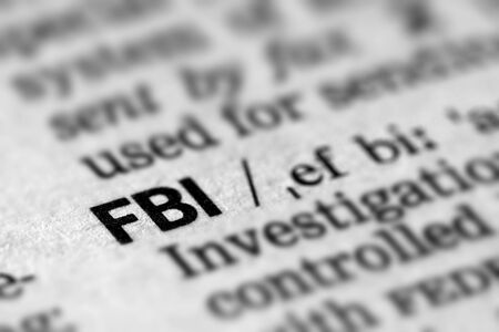 FBI Definition Word Text in Dictionary Page 스톡 콘텐츠