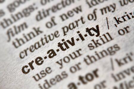 definicion: La creatividad Palabra Definici�n de texto en el diccionario p�gina