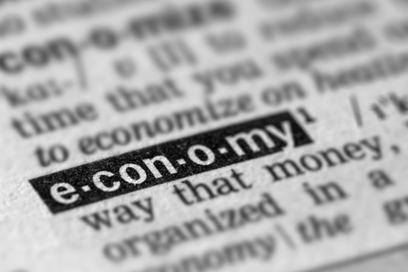 definition: Economy Definition Word Text in Dictionary Page