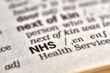 nhs: NHS Word Definition Text in Dictionary Page