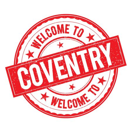 Welcome to COVENTRY Stamp Icon Sign Vector.