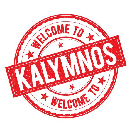 Welcome to KALYMNOS Stamp Icon Sign Vector.