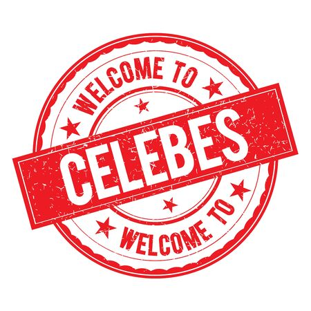 celebes: Welcome to CELEBES  Stamp Icon Sign Vector.