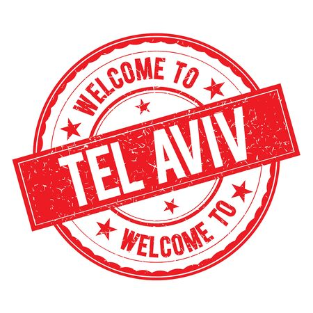 tel aviv: Welcome to TEL   AVIV Stamp Icon Sign Vector. Illustration