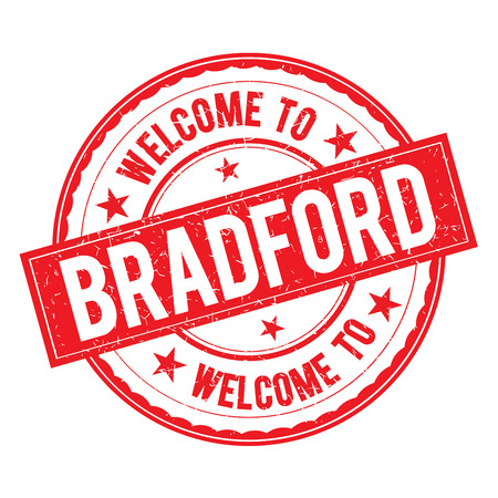 Welcome to BRADFORD Stamp Icon Sign Vector. Illustration
