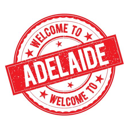 adelaide: Welcome to ADELAIDE Stamp Icon Sign Vector.