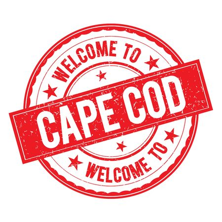 Welcome to CAPE   COD Stamp Icon Sign Vector.
