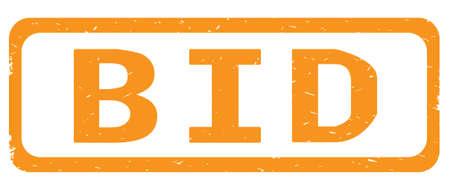 GEBEN Sie Text, auf orange Grenzrechteckweinlese strukturiertem Stempelzeichen mit runden Ecken. Standard-Bild