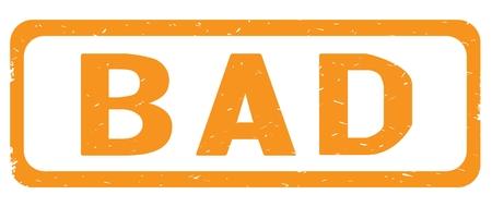 SCHLECHTER Text, Auf Strukturiertem Stempelzeichen Der Orange  Grenzrechteckweinlese Mit Runden Ecken. Standard Bild