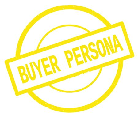 BUYER PERSONA text, written on yellow simple circle rubber vintage stamp. Stock Photo