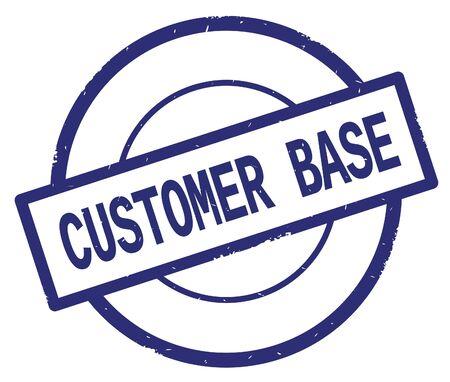 Texte de base de client, écrit sur le cachet vintage de caoutchouc de cercle simple bleu. Banque d'images - 90389043