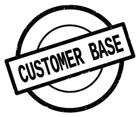 Texte de base de client, écrit sur le cachet vintage de caoutchouc de cercle simple noir. Banque d'images - 90318839