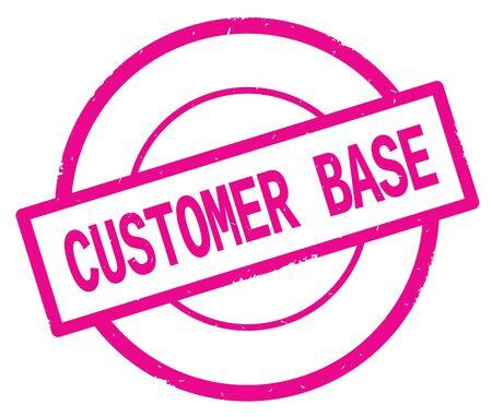 Texte de base de client, écrit sur le cachet vintage de caoutchouc de cercle simple rose. Banque d'images - 90391263