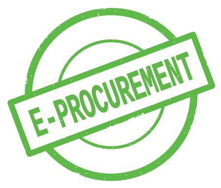 E PROCUREMENT text, written on green simple circle rubber vintage stamp.