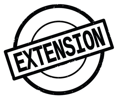 EXTENSION text, written on black simple circle rubber vintage stamp. Stock Photo