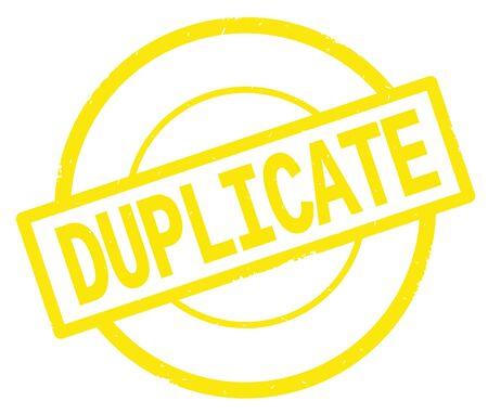 黄色の円のシンプルなヴィンテージ スタンプに書かれたテキストを重複してください。 写真素材