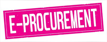 E  PROCUREMENT text, on full pink rectangle vintage textured stamp sign.