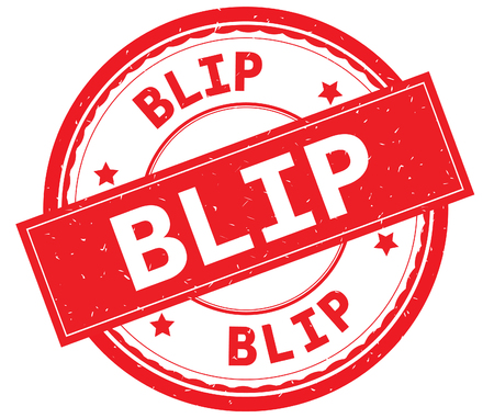 BLIP written text on red round rubber vintage textured stamp. Stock Photo