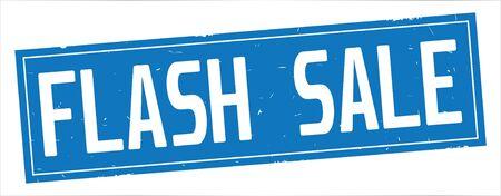 FLASH SALE テキスト、フルブルーの長方形ヴィンテージテクスチャスタンプ記号に。 写真素材 - 93112104