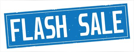 FLASH SALE text, on full blue rectangle vintage textured stamp sign. 版權商用圖片 - 93112104