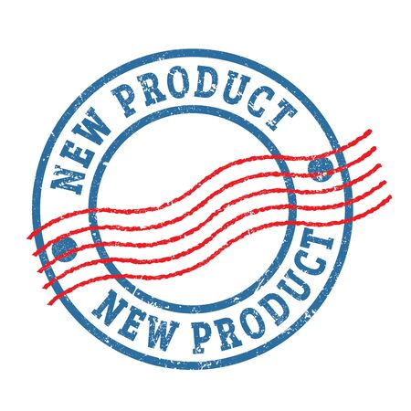 NEW PRODUCT blue red round stamp.