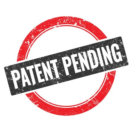 PATENT PENDING black red grungy round stamp sign.