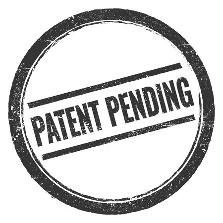 PATENT PENDING black grungy round stamp sign.