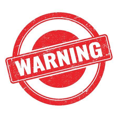 WARNING  red round stamp. Stock Photo