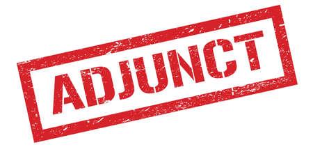 ADJUNCT red grungy rectangle stamp sign. 版權商用圖片