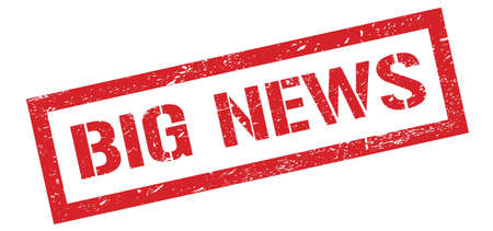 BIG NEWS red grungy rectangle stamp sign. Stock fotó