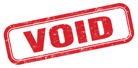 VOID red grungy rectangle stamp sign. Stock Photo