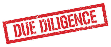 DUE DILIGENCE red grungy rectangle stamp sign. 写真素材