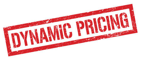 DYNAMIC PRICING red grungy rectangle stamp sign.