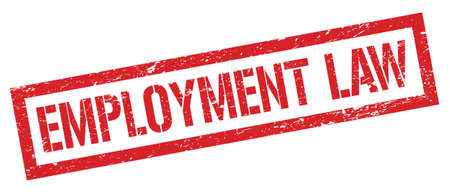 EMPLOYMENT LAW red grungy rectangle stamp sign. 写真素材