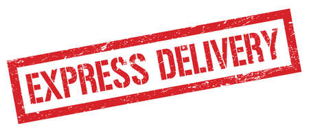 EXPRESS DELIVERY red grungy rectangle stamp sign.
