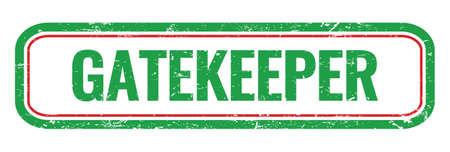 GATEKEEPER green grungy rectangle stamp sign.