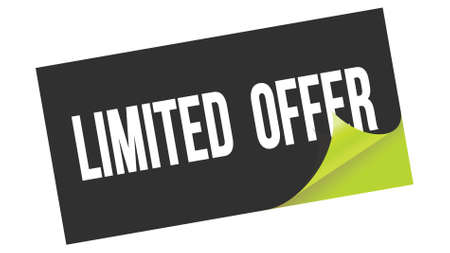 LIMITED OFFER text written on black green sticker stamp.