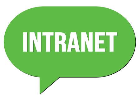 INTRANET text written in a green speech bubble stamp Reklamní fotografie