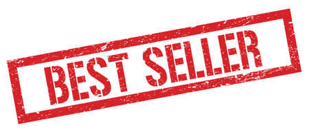 BEST SELLER red grungy rectangle stamp sign.