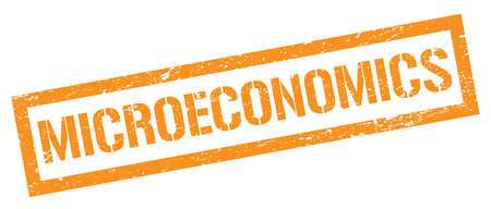 MICROECONOMICS orange grungy rectangle stamp sign. 스톡 콘텐츠