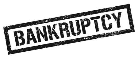 BANKRUPTCY black grungy rectangle stamp sign.