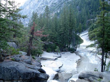 Vernal Fall  in Yosemite National Park, California, USA photo